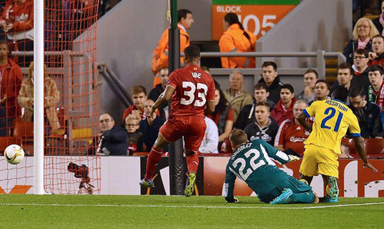 Liverpool 1 x 1 Sion - Europa League 2015/16
