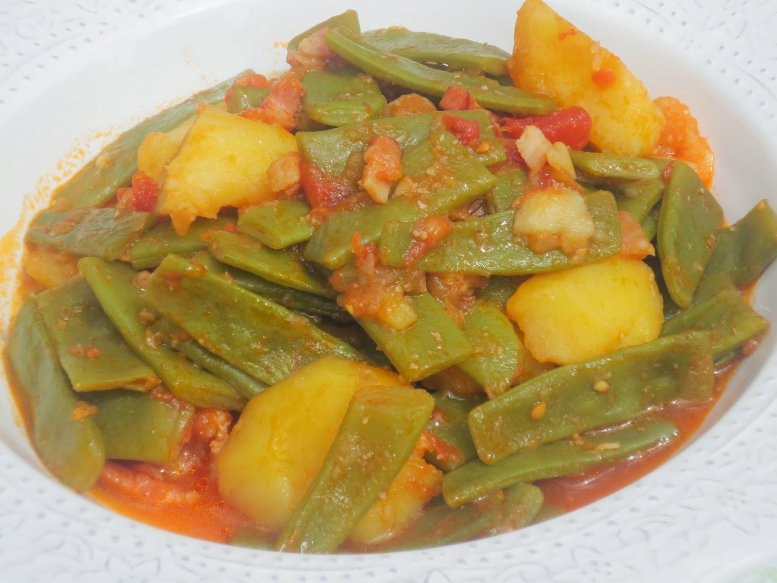 Jud as verdes guisadas olla gm - Judias con chorizo y patatas ...