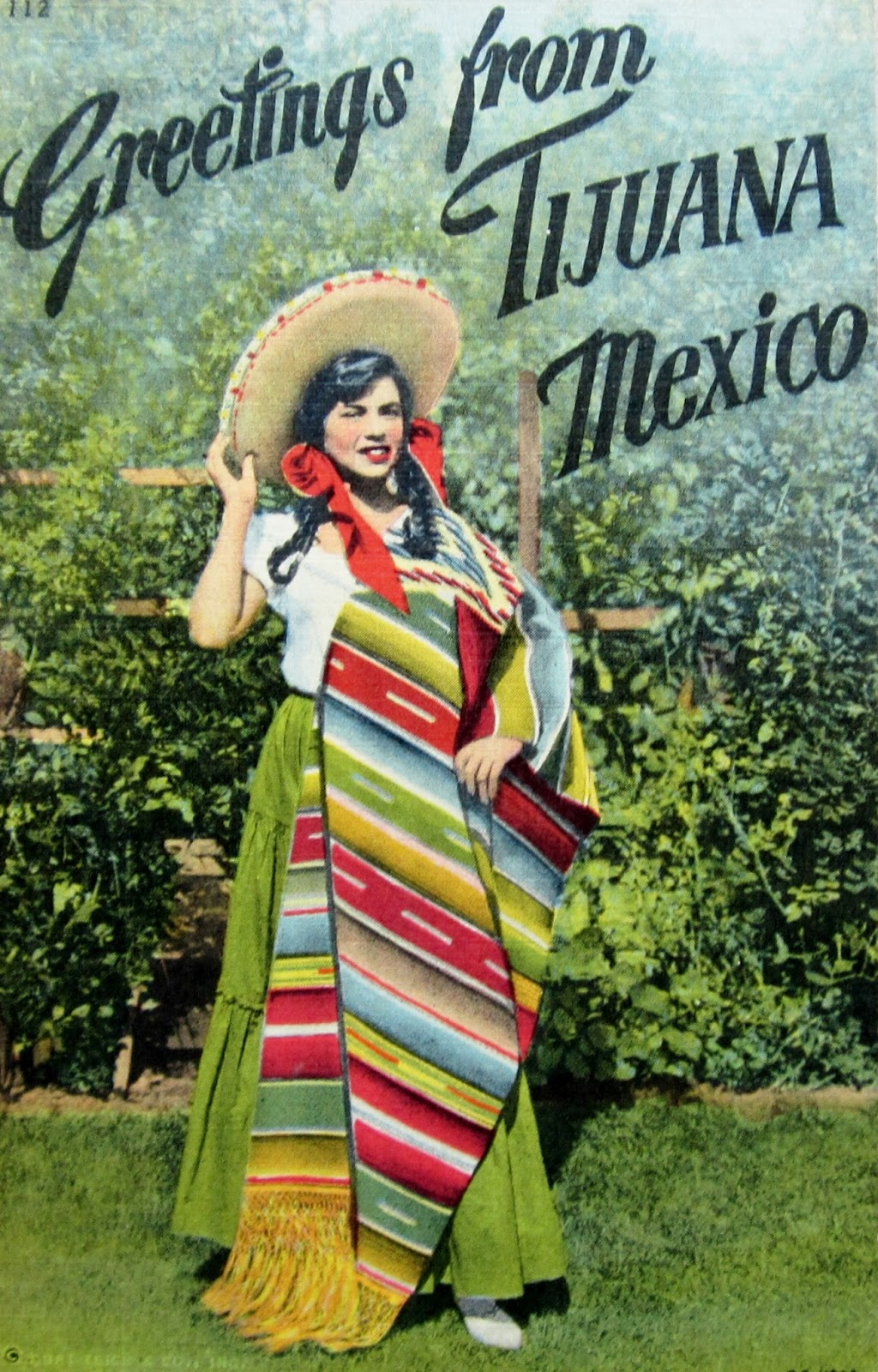 Colorful Mexico Linen Postcards