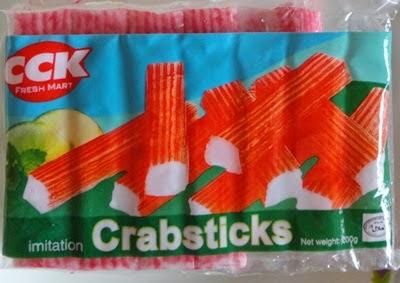 Crabsticks CCK, Crabsticks CCK Stik ketam CCK Berat: 200 gram Harga: RM2.40   Penyediaan Crabsticks dalam menu hidangan