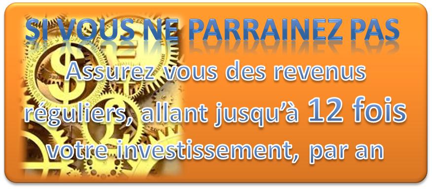 Se transformé en contributeur investisseur pour recevoir un revenu régulier 12 fois par an