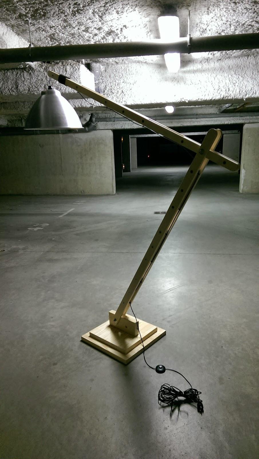 La menuiserie 503 la lampe d 39 architecte g ante en bois - Lampe architecte geante ...