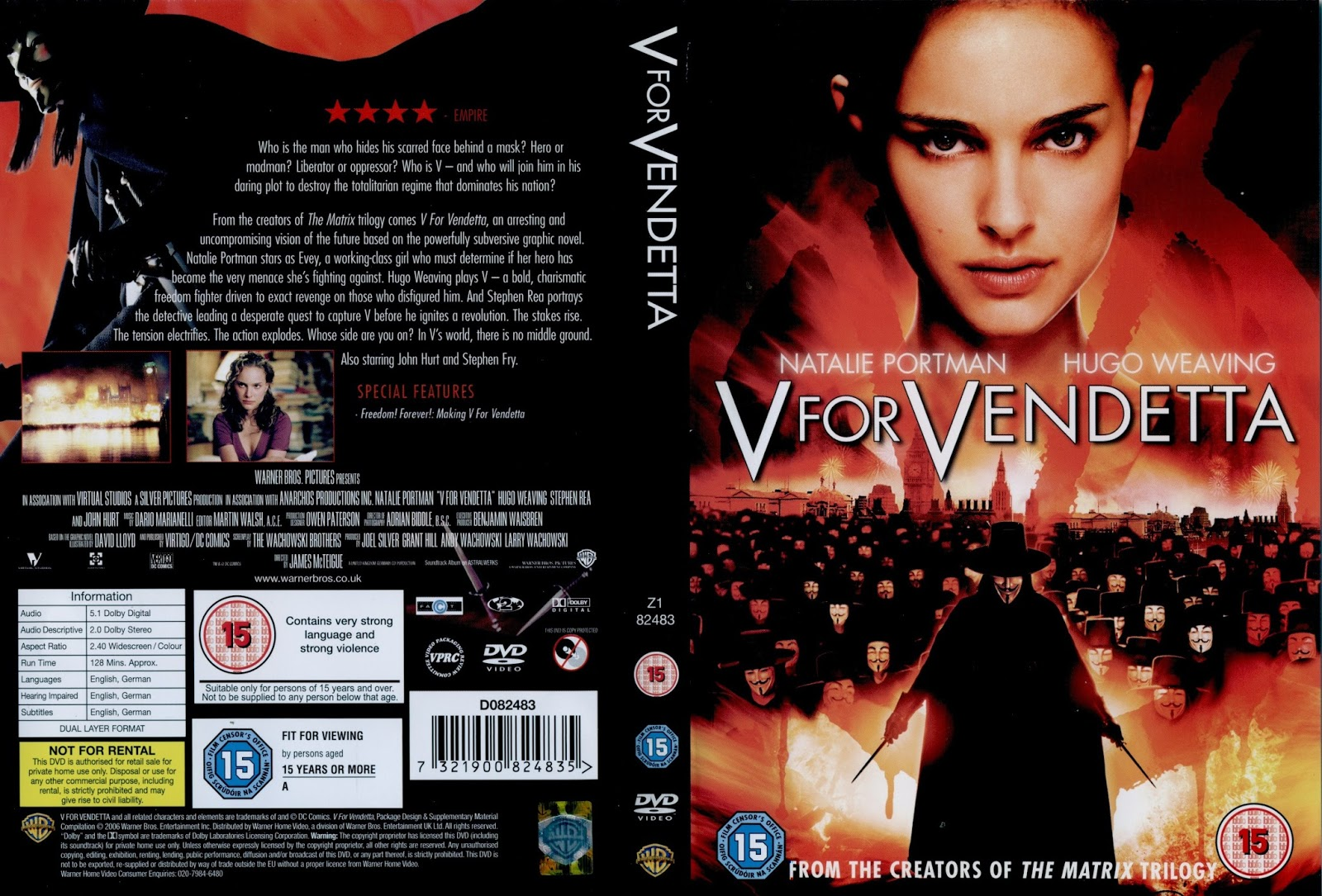 V For Vendetta Movie Cover DVD and VHS Covers: Ju...