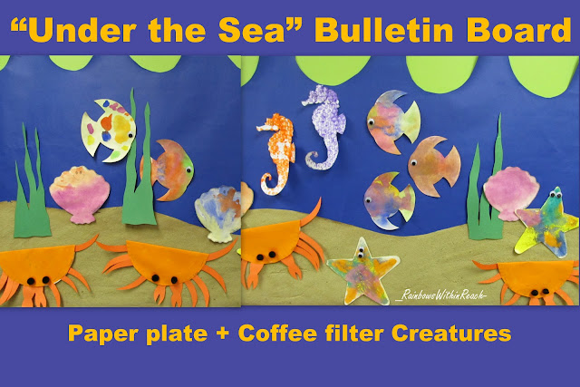photo of: Under the Sea Ocean Bulletin Board (from Bulletin Board RoundUP via RainbowsWithinReach) Beach Blog Hop