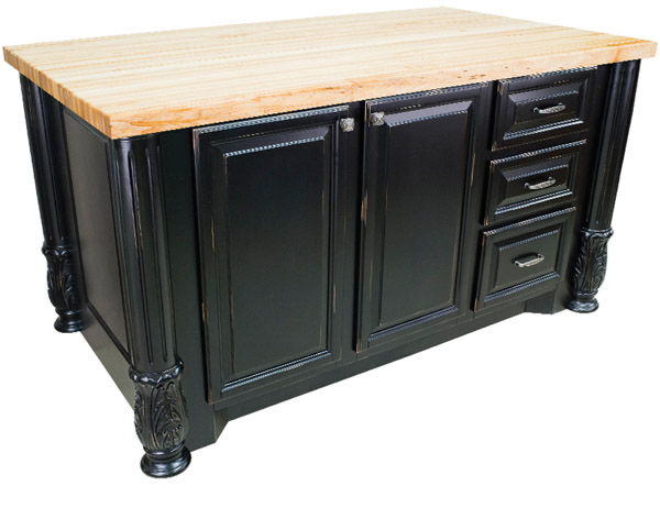 furniture grade kitchen island solid wood top