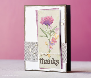 CTMH Paper Garden SOTM Stamp Set Card