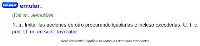 verbo emular.