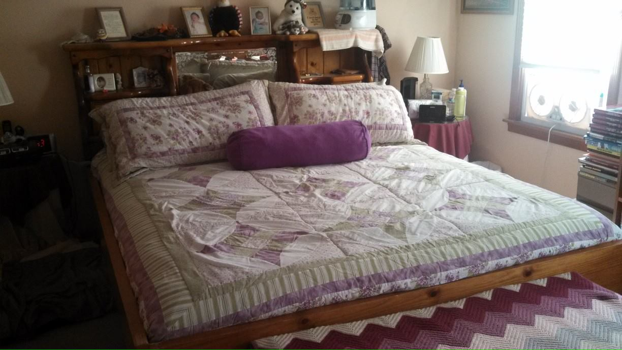 for sale king size waterbed frame with lighted headboard bed has three drawers of storage on each side a california king mattress fits perfectly inside
