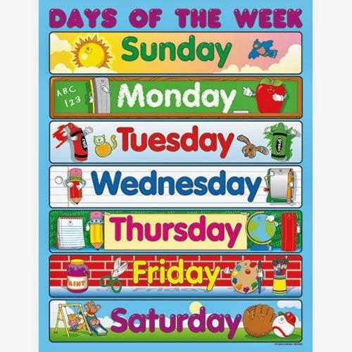 Days Of The Week Calendar Printable | Calendar Template 2016