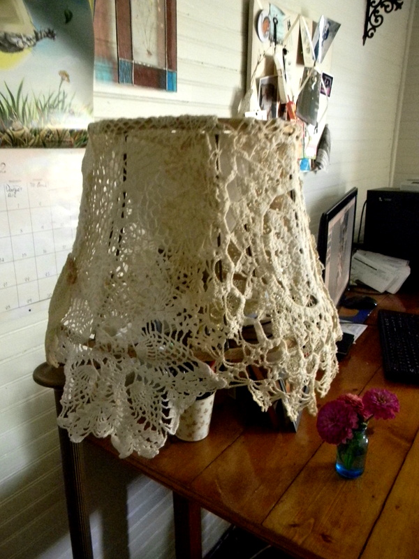 Happily Ever After Vintage Lace Doily Lamp Shade