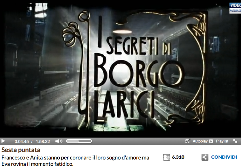 http://www.video.mediaset.it/video/i_segreti_di_borgo_larici/full/443302/sesta-puntata.html