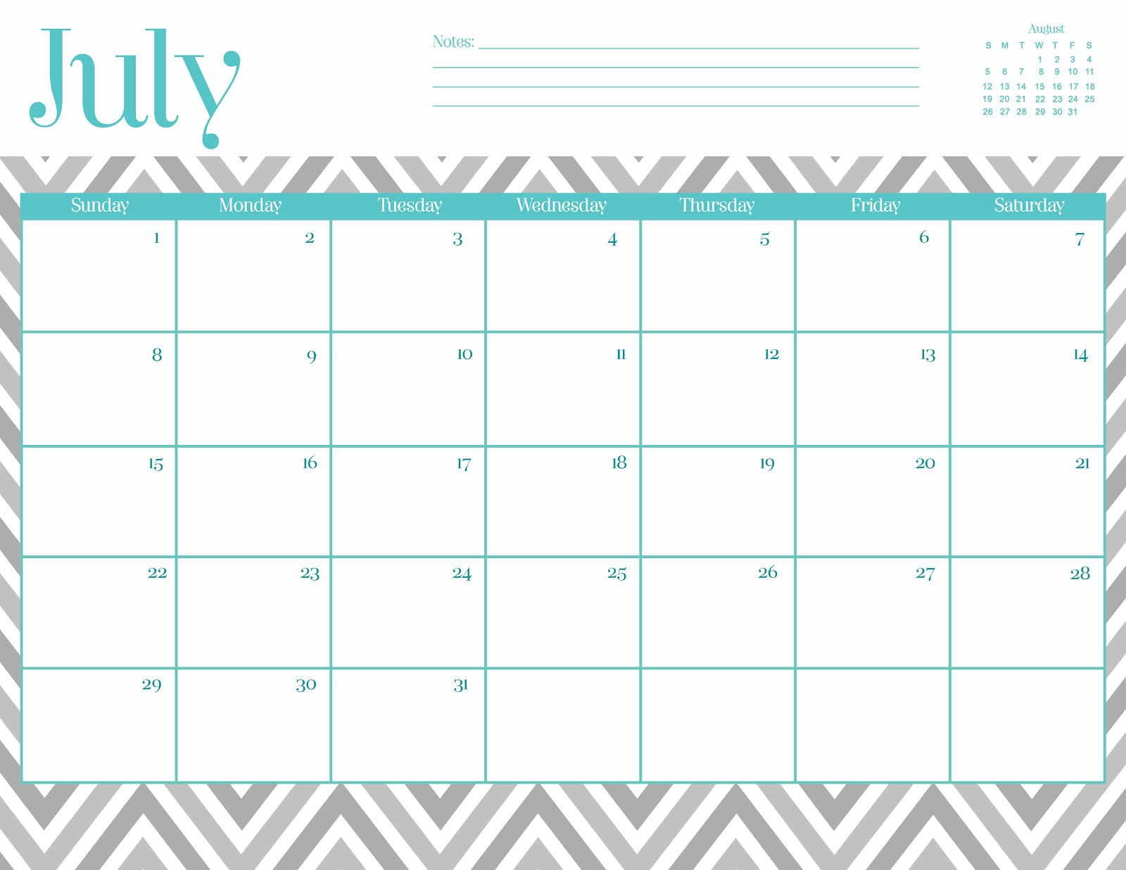 Cute January 2014 Calendar Printable