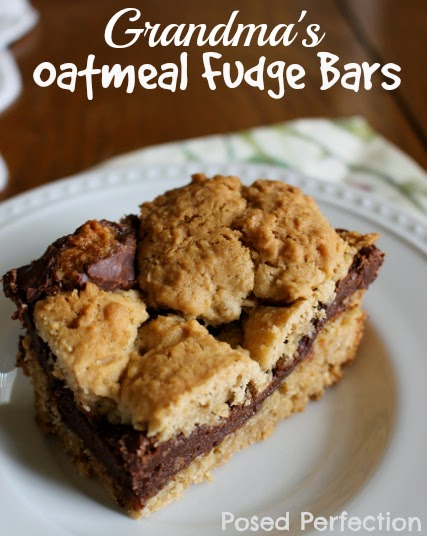 Grandma's Oatmeal Fudge Bars