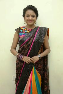 Anchor Suma Pictures in Saree at Manam 100 Days Event  021