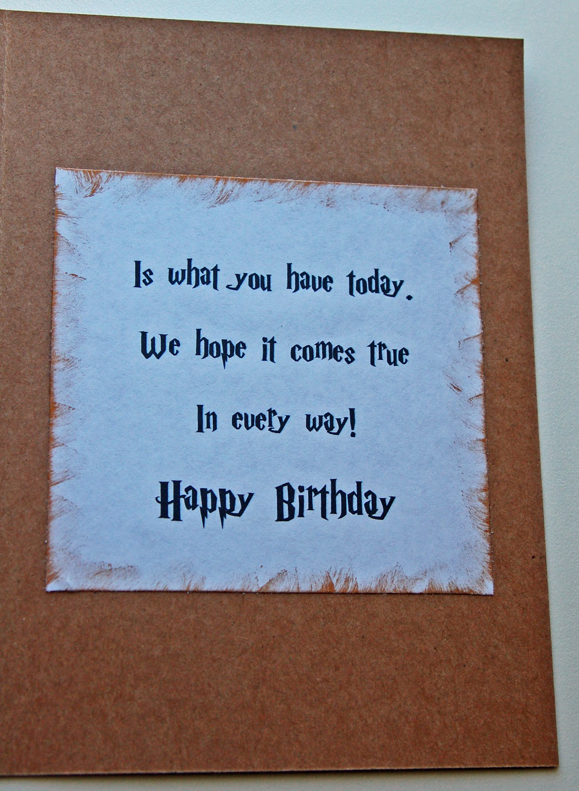 Im Craving Creativity Harry Potter Birthday Card