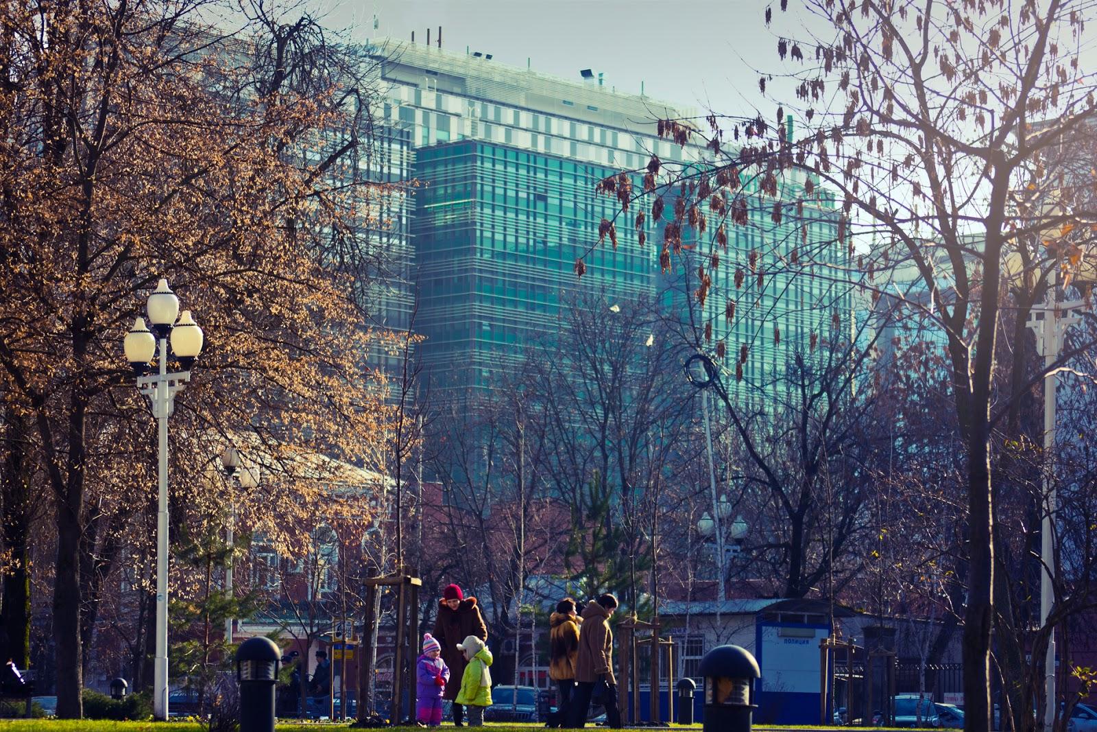 Центральный сквер зимой
