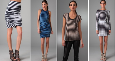 Alc Clothing Striped Clothing for Fashion