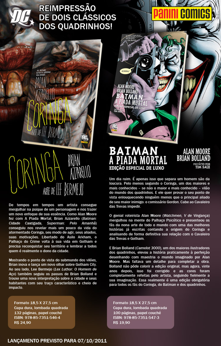 Fênix Comic Shop: De volta: BATMAN - A PIADA MORTAL e CORINGA