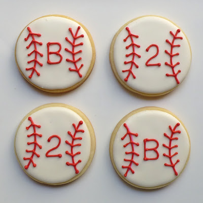 Baseball Birthday Cookies by Nina's Show & Tell