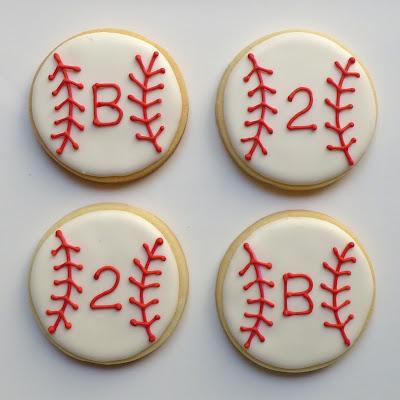 Baseball Birthday Cookies by Nina's Show & Tell