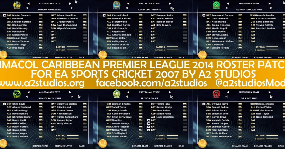 CRICKET GAMES PATCHES: CPL T20 2013 OVERLAY