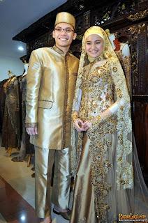 Foto Kebaya Pengantin Muslim Model Terbaru