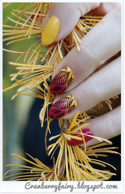 burgundowe paznokcie
