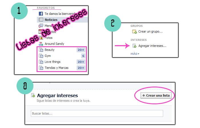 tutorial facebook listas de intereses me gusta organizar páginas fan pages