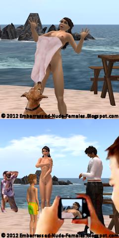 embarrassed nude females