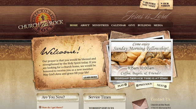 The use of texture in web design