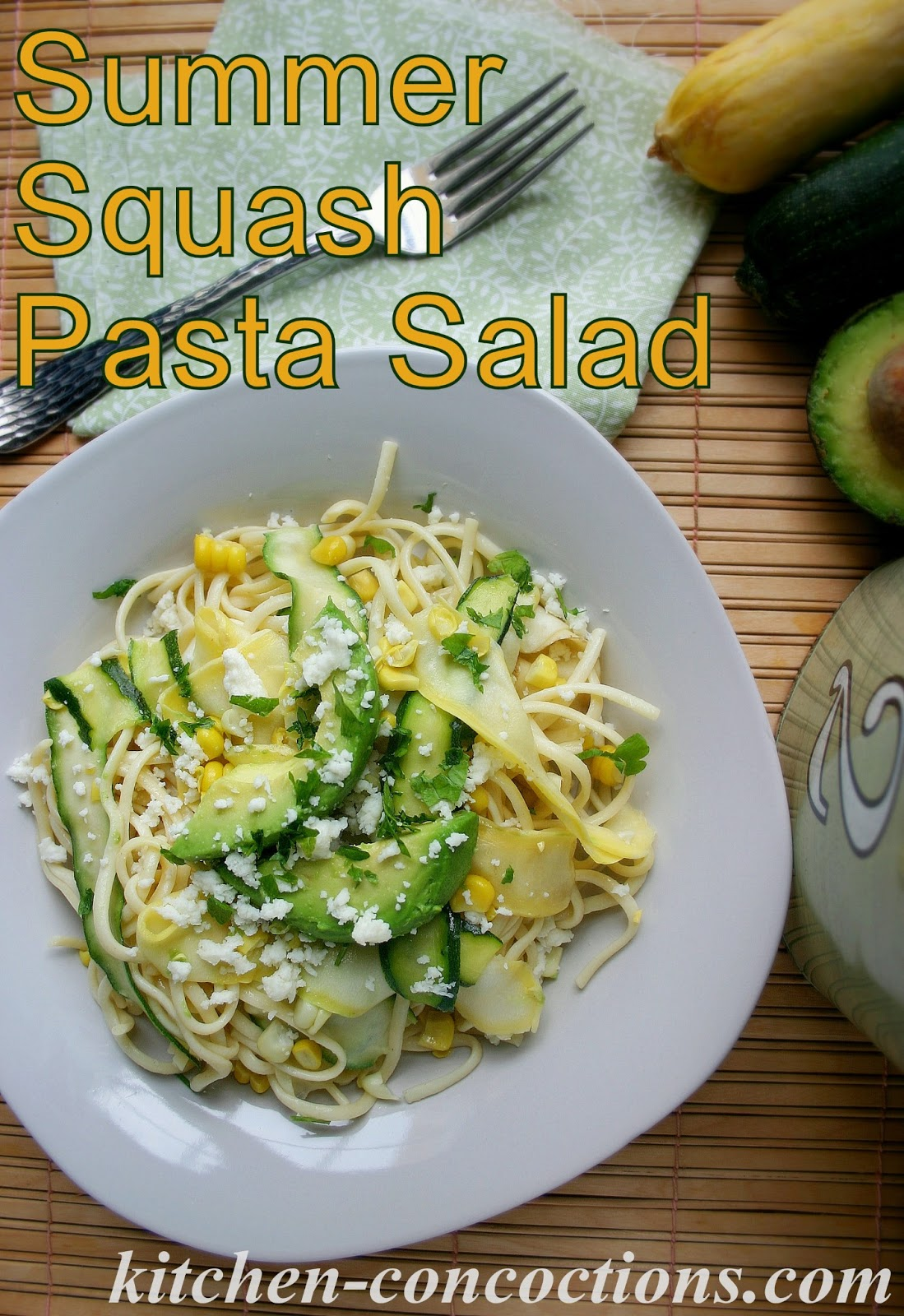 Zucchini Ribbon Salad With Sweet Corn & Avocado Recipes — Dishmaps