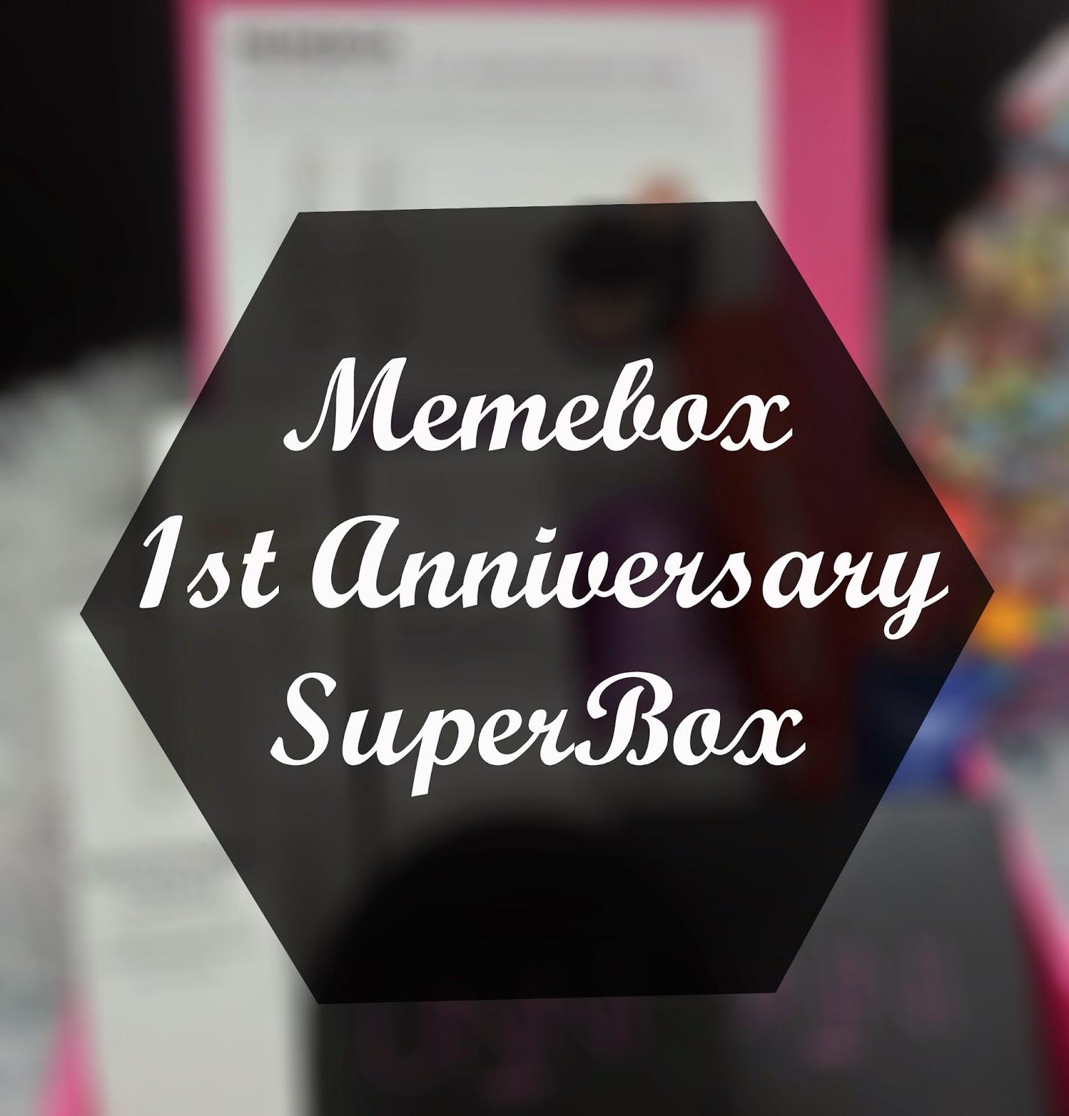 Unboxing Memebox 1st Anniversary Box