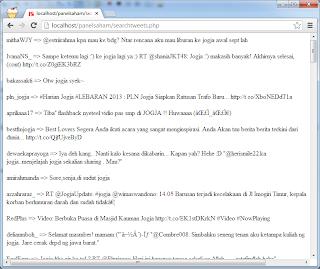 Aplikasi Searching Tweet dengan PHP Menggunakan Twitter Oauth 1.1