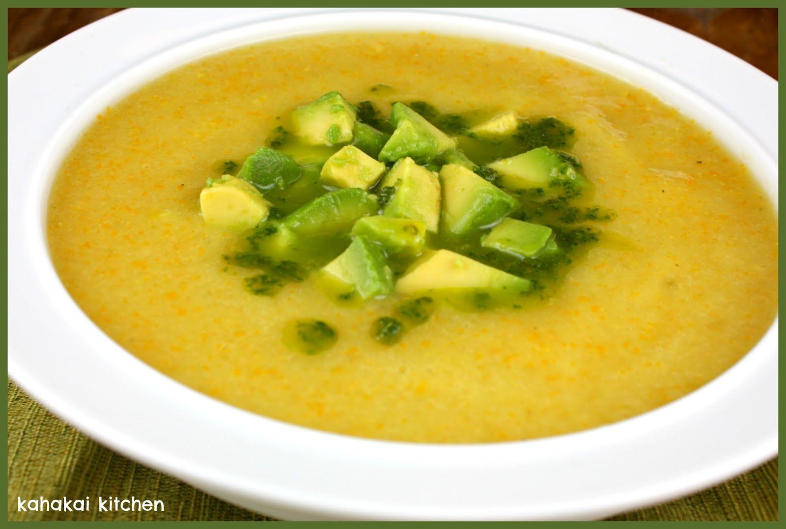 ... Cilantro OIl and Avocado for Souper (Soup, Salad and Sammie) Sundays