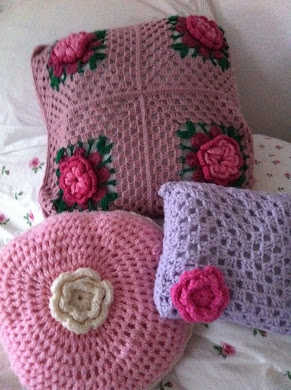 Crochet cushions