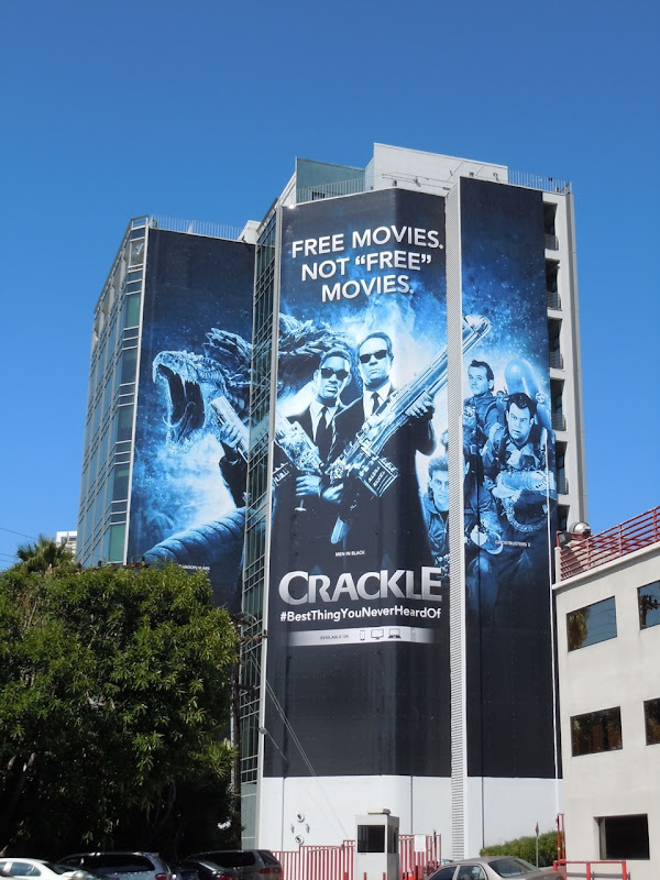 Crackle sci-fi movie billboard