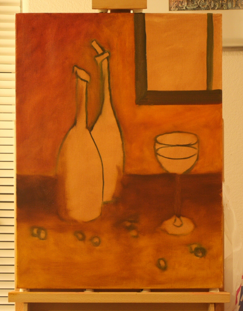 150218 - Abstract Bottles 002b 24x18 oil on stretched canvas - Dave Casey - TheDailyPainter.jpg
