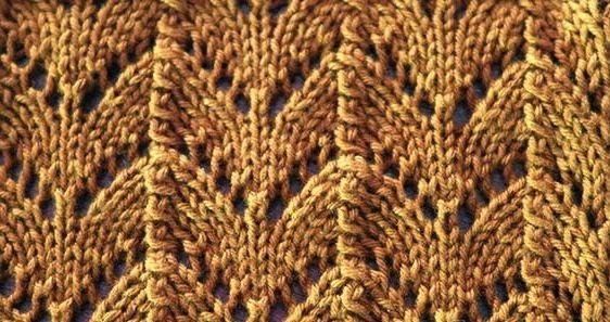 Knitting Galore Saturday Stitch Horseshoe Lace Stitch