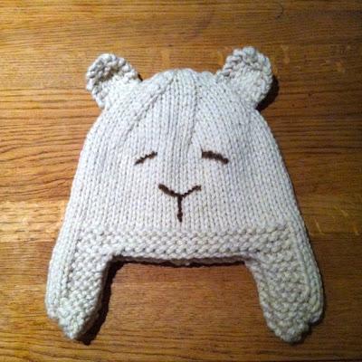 Bear Hat Knitting Pattern : Stitch me Softly...: Sleepy Polar Bear Hat - knitting pattern