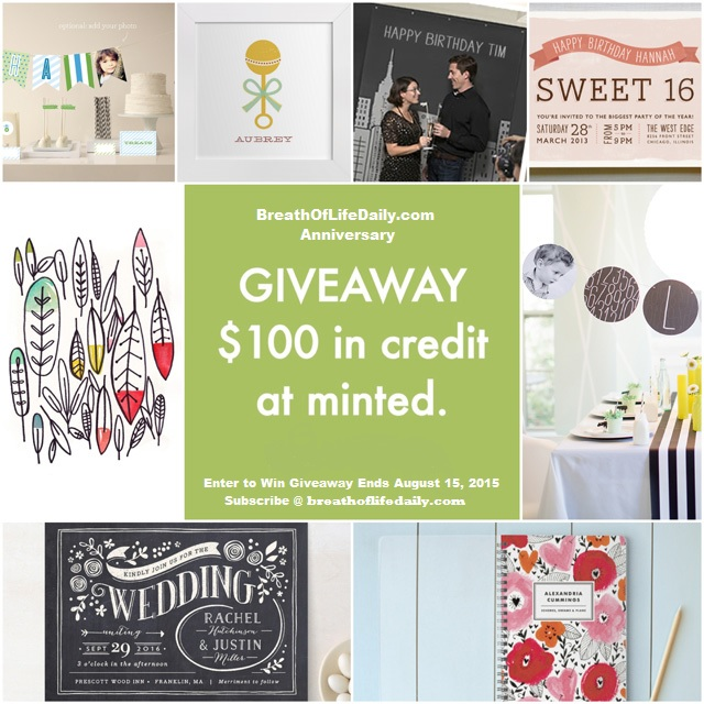 Enter To Win $100 Gift Credit On Minted.