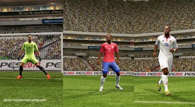 PES 2013 Costa Rica kits 2015 v1 by syirojuddin