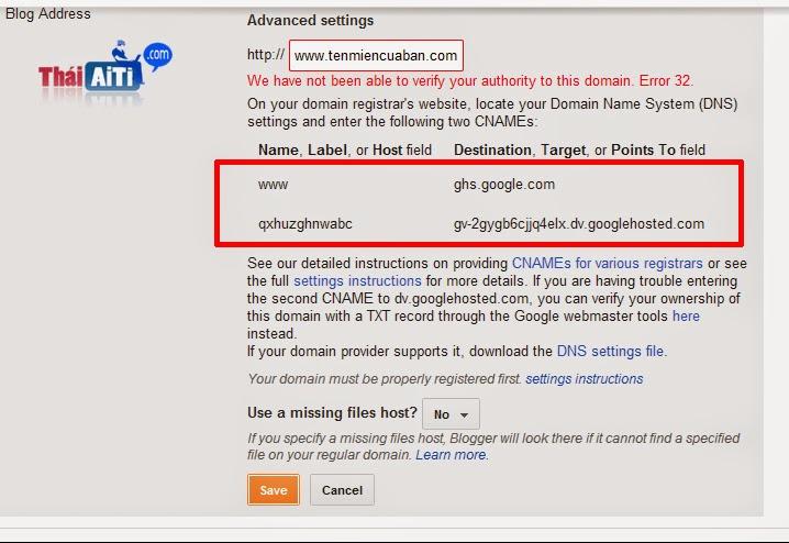 Cài đặt Domain cho Blogspot chuẩn nhất không bị chặn bởi các nhà mạng Internet