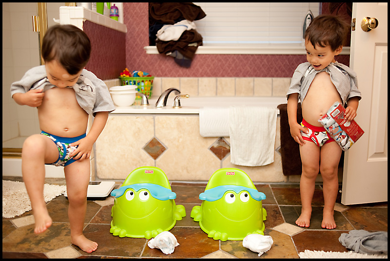 Toy Story Potty Training : Berg twins potty training has officially begun