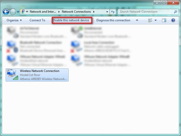 Manage Adapter Setting Window Screen shot: Intelligent Computing