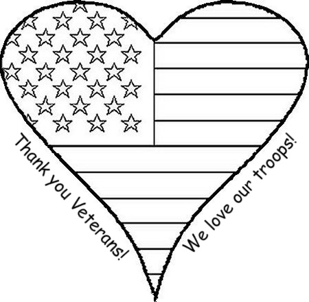 Crafty confessions veterans day coloring page for Flag heart coloring page
