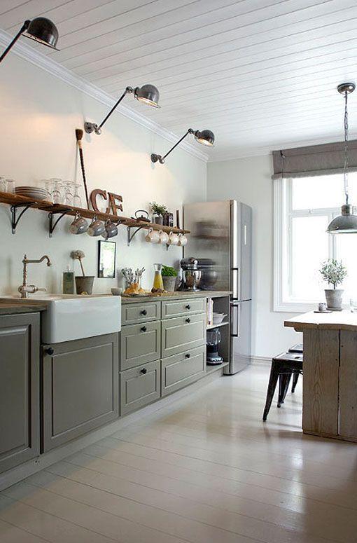 Fregaderos sobre mueble para cocinas rústicas ~ Reformas Guaita