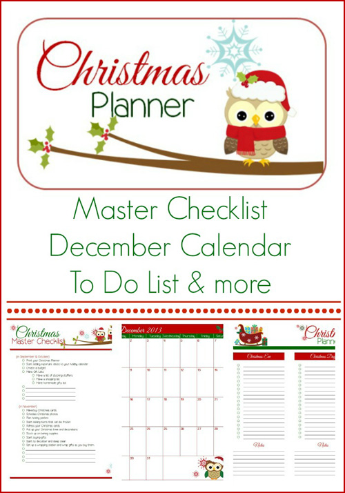 photograph about Christmas Planner Printable identify My Owl Barn: Printable Xmas Planner