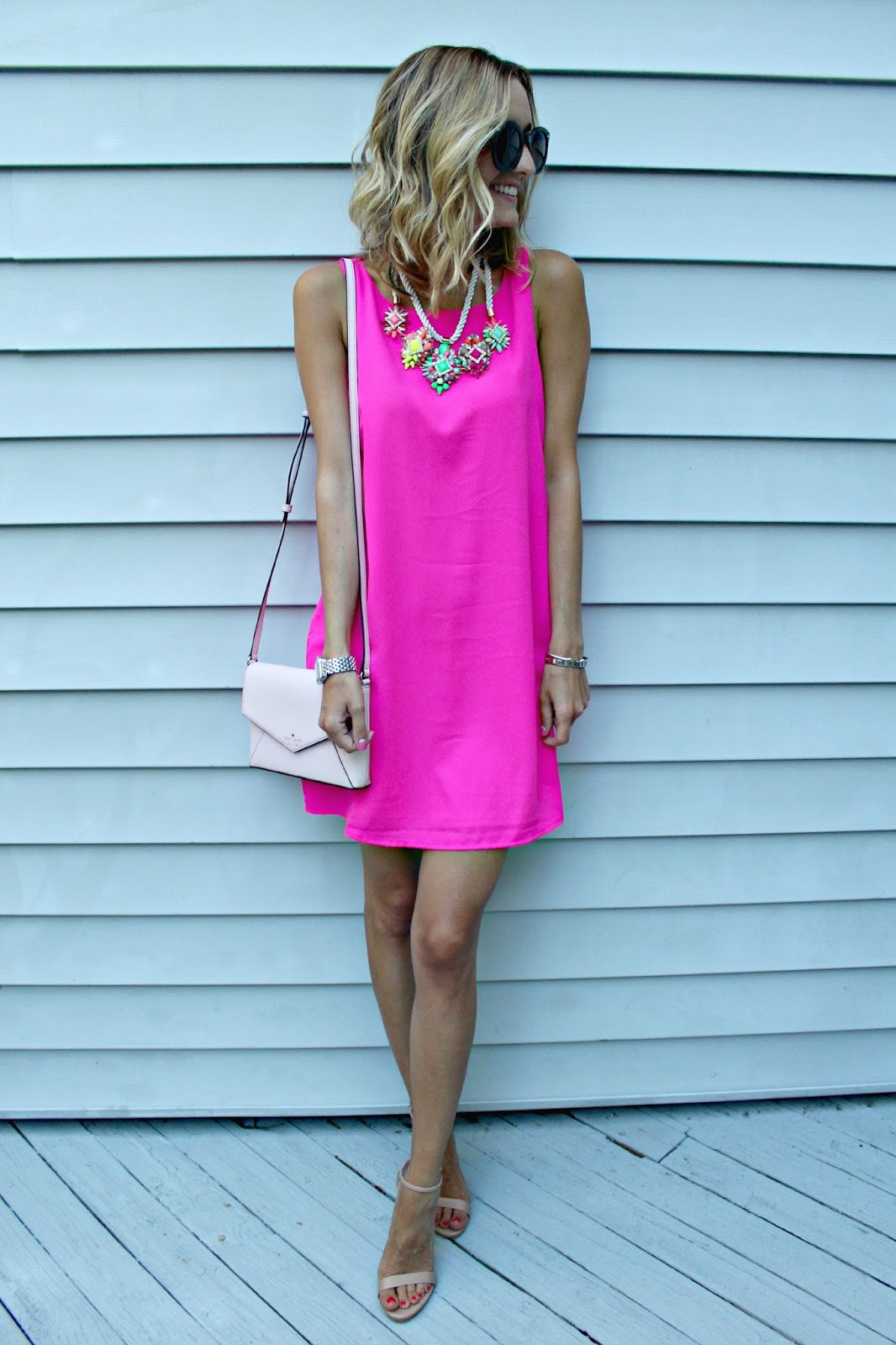gabriella rocha pink shift dress