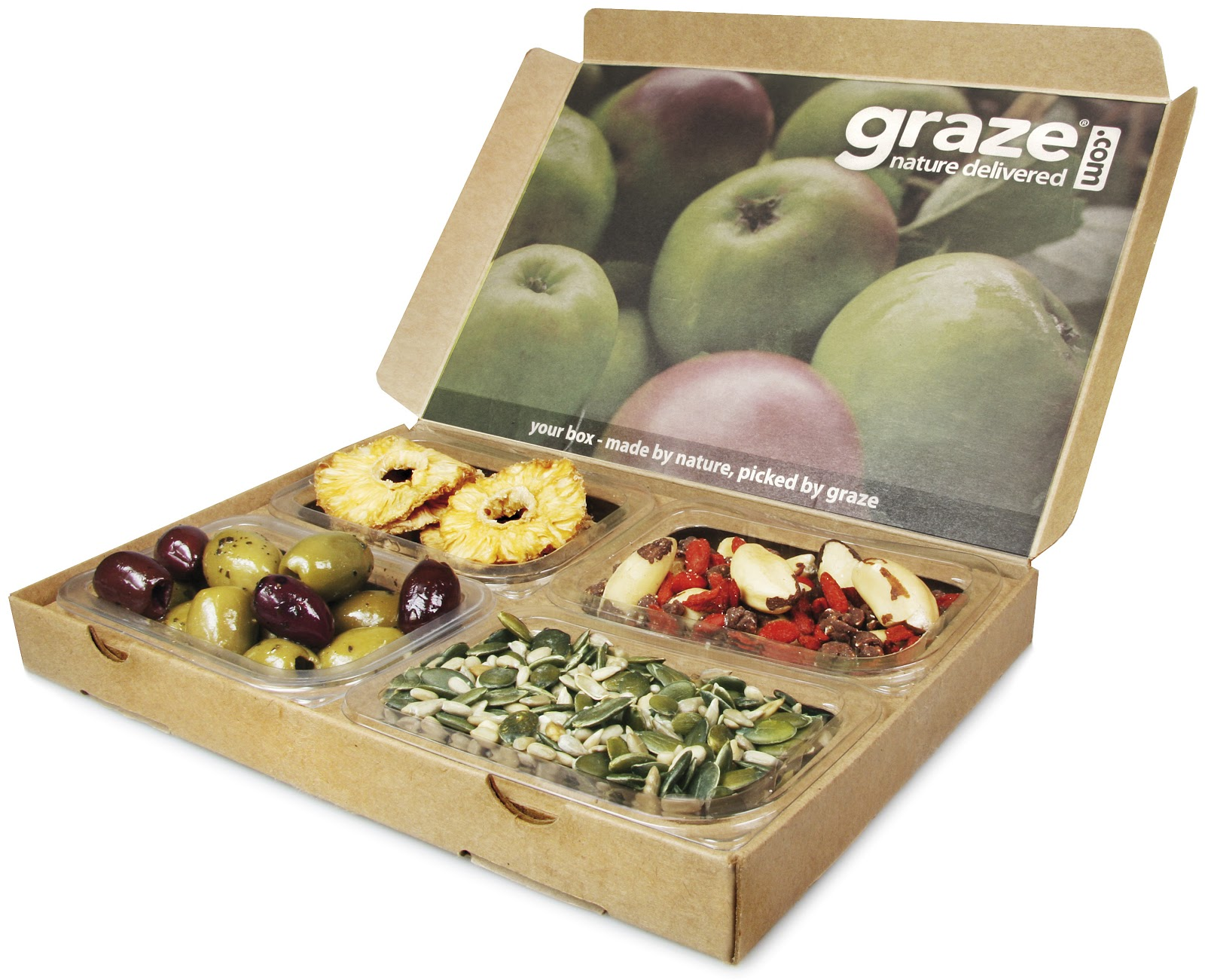 Get healthy snacks delivered to your door with Graze boxes. Have your boxes filled with tasty snacks, including cakes and fruit, nuts and seeds, and earn top cashback rewards.