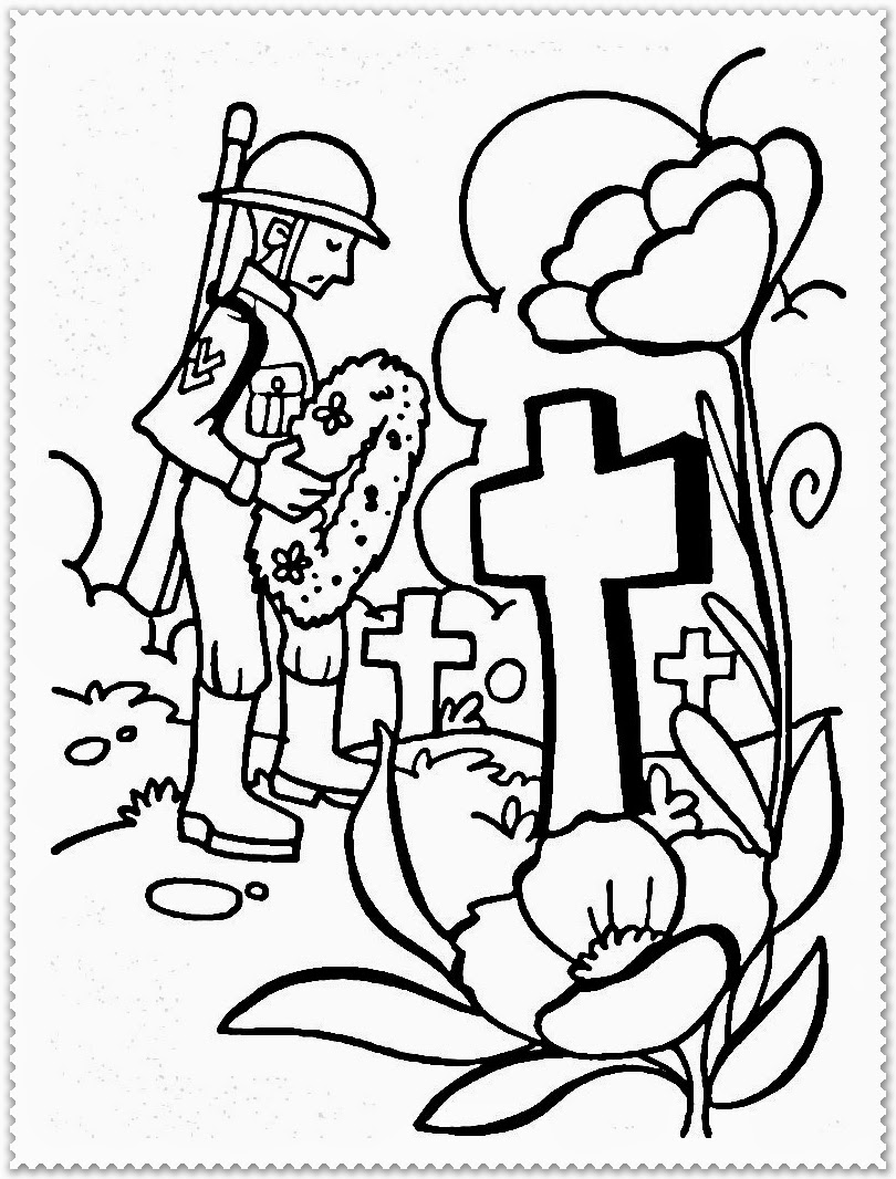 Colour By Number Remembrance Day Free Remembrance Day Coloring - Poppies to remember coloring page